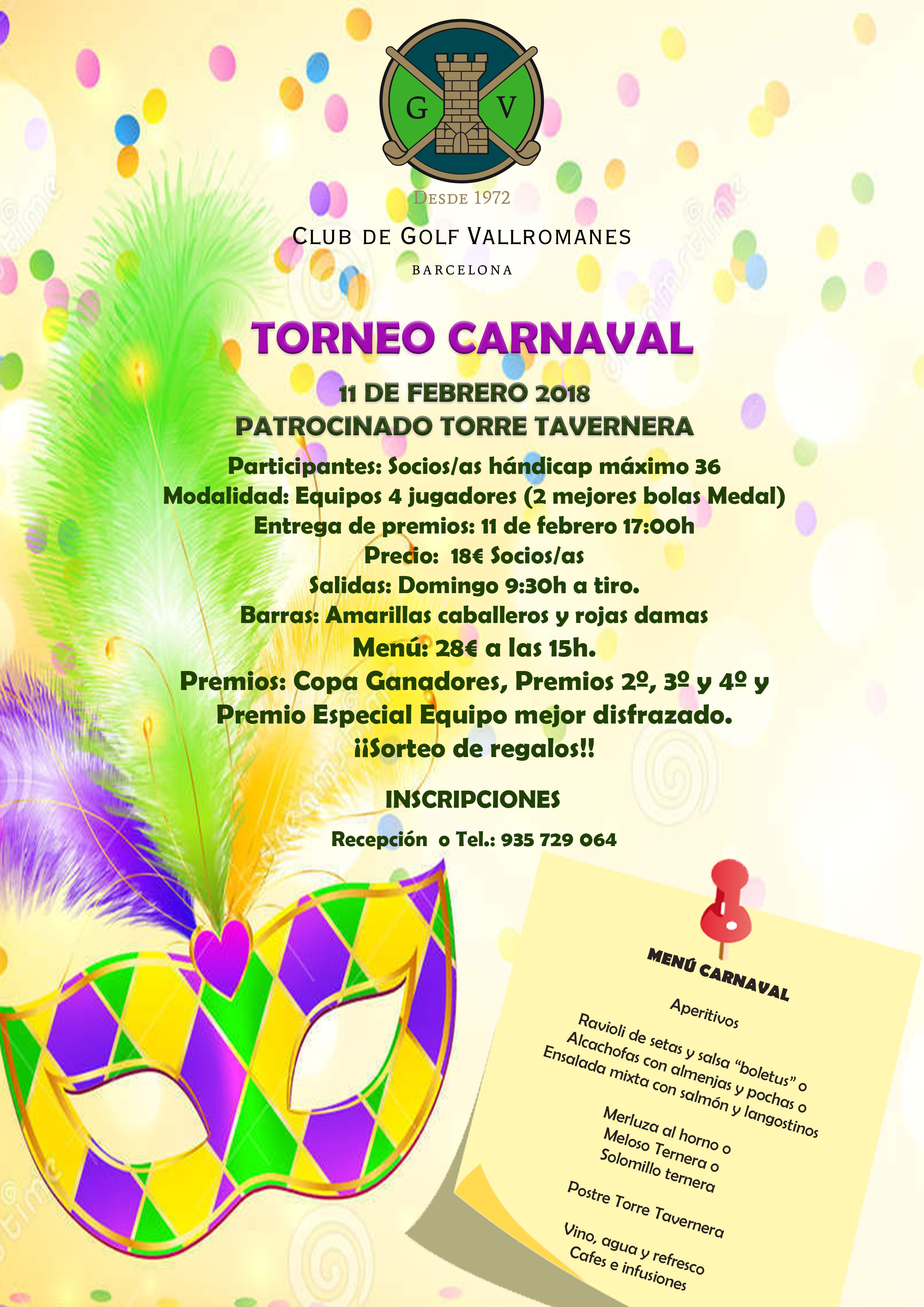poster torneo carnaval